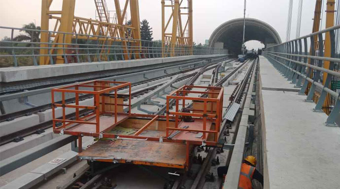 Uji coba LRT Jabodebek