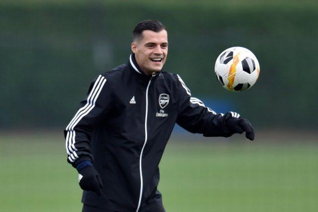 Pemain Arsenal Granit Xhaka.
