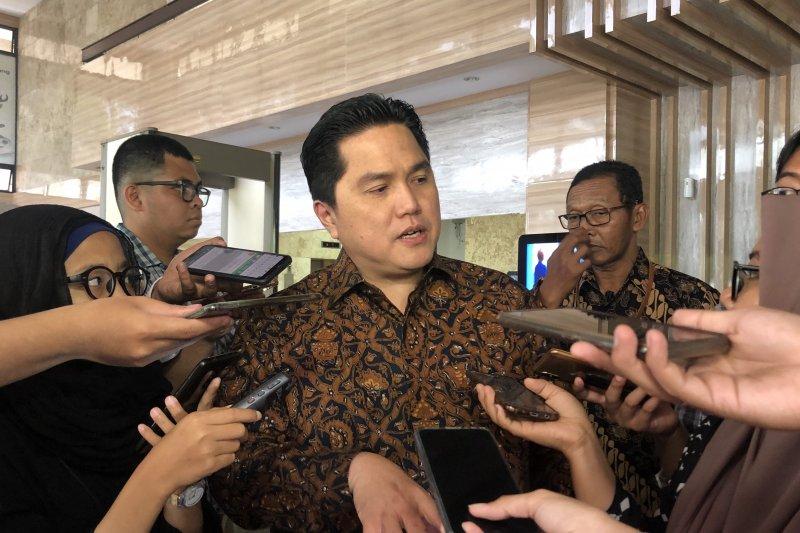 Menteri Badan Usaha Milik Negara (BUMN) Erick Thohir di Jakarta, Selasa (5/11/2019).