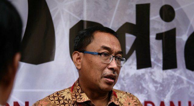 Direktur Politeknik Negeri Media Kreatif Dr Purnomo Ananto M.M. dalam acara Seminar Nasional Mediasi 2019 di Depok, Kamis (21/11/2019)