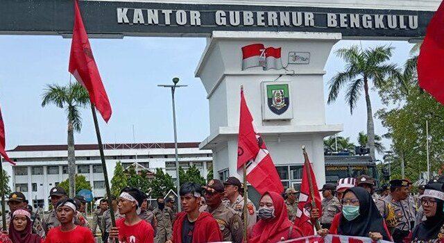 Ilustrasi - Aksi damai GMNI Bengkulu.