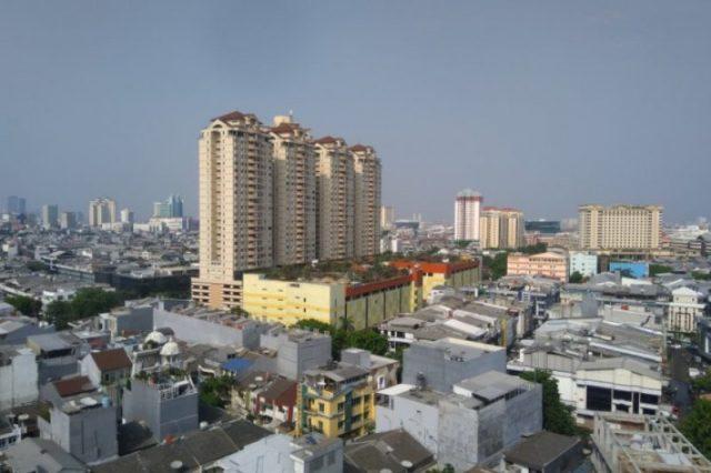 foto suasana salah satu sudut kota Jakarta.