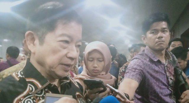 Menteri Perencanaan dan Pembangunan Nasional (PPN) atau Kepala Badan Perencanaan Pembangunan Nasional (Bappenas) Suharso Monoarfa usai rapat kajian bersama dengan Komisi V DPR RI di Jakarta, Rabu (20/11/2019).