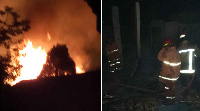 Pabrik Tempe Terbakar