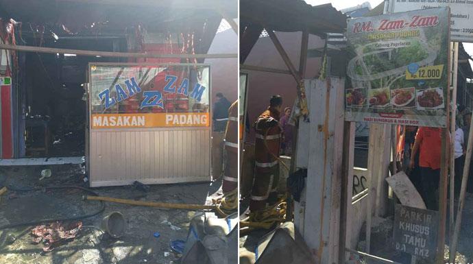 Rumah Makan padang terbakar