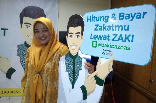 ILUSTRASI. Peluncuran layanan baru Baznas menggunakan virtual assistant @zakibaznas di kantor Baznas Jakarta (25/5). Potensi zakat profesi sangat besar.