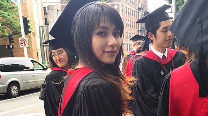Risa Santoso yang jadi rektor termuda di Indonesia. (instagram/santosorisa)