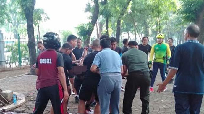 Ledakan terjadi di kawasan Monas, Selasa (3/11) pagi. Ada korban akibat ledakan itu. (Istimewa)
