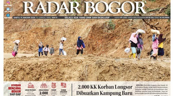 Epaper Radar Bogor Edisi 11 Januari 2020