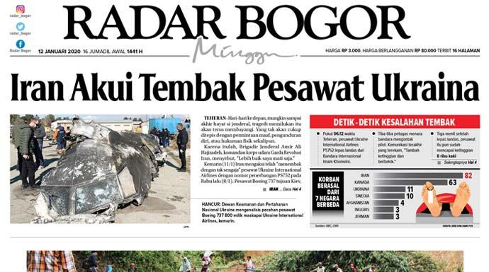 Epaper Radar Bogor Edisi 12 Januari 2020