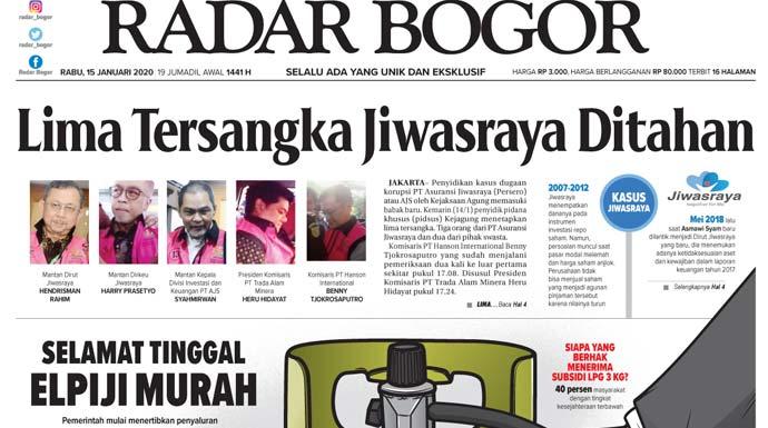 Epaper Radar Bogor Edisi 15 Januari 2020
