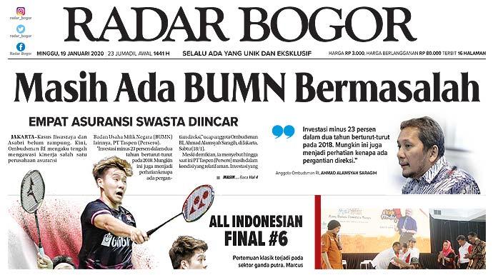Epaper Radar Bogor Edisi 19 Januari 2020