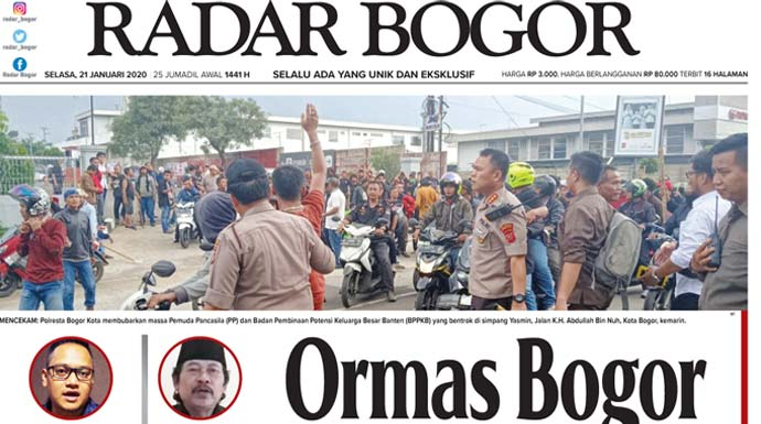 Epaper Radar Bogor Edisi 21 Januari 2020