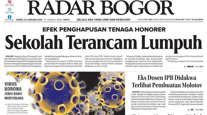 Epaper Radar Bogor Edisi 23 Januari 2020
