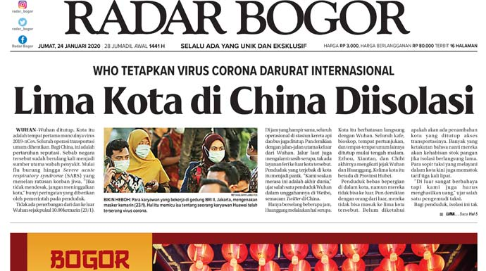Epaper Radar Bogor Edisi 24 Januari 2020