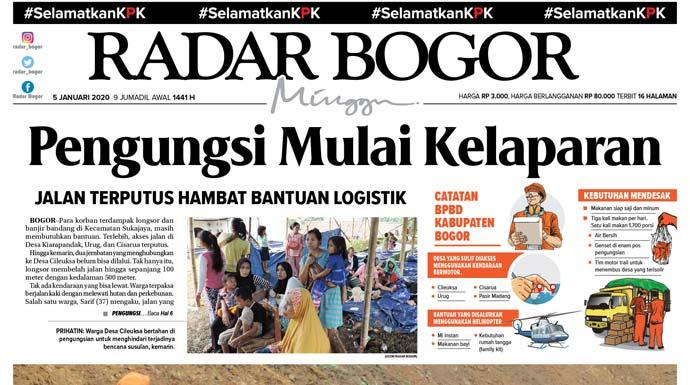 Epaper Radar Bogor Edisi 5 Januari 2020