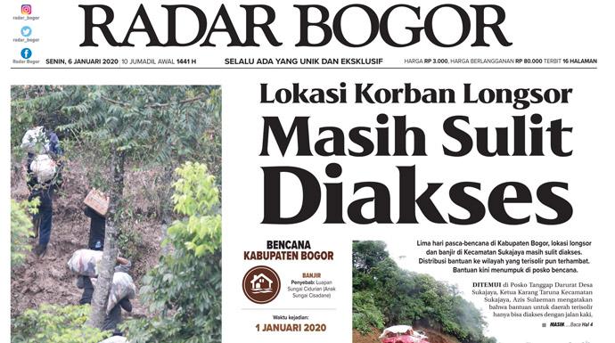 Epaper Radar Bogor Edisi 6 Januari 2020