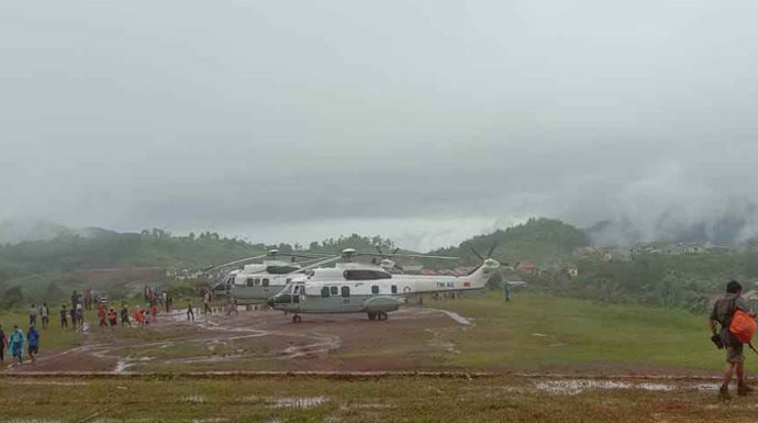 Cuaca Buruk, Presiden Jokowi Batal Kunjungi Korban Bencana di Sukajaya
