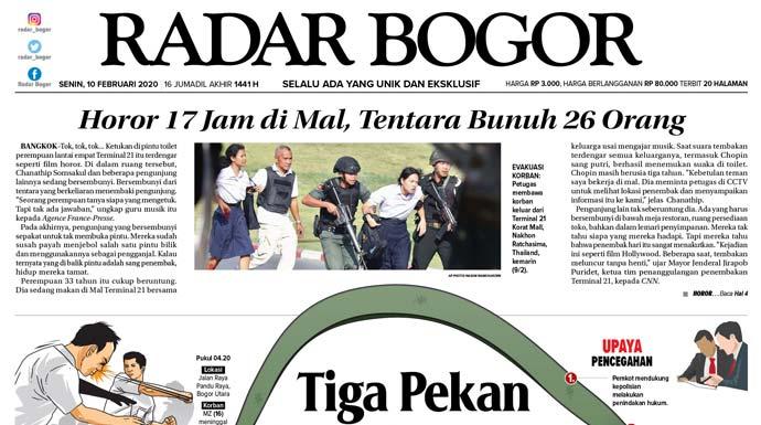 Epaper Radar Bogor Edisi 10 Februari 2020