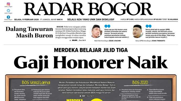 Epaper Radar Bogor Edisi 11 Februari 2020