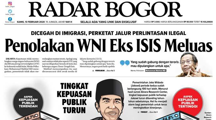 Epaper Radar Bogor Edisi 13 Februari 2020