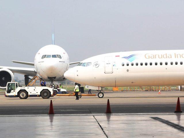 Garuda Indonesia membuka enam rute penerbangan internasional baru tujuan Denpasar, Kamis (27/2). (Fedrik Tarigan/Jawa Pos)