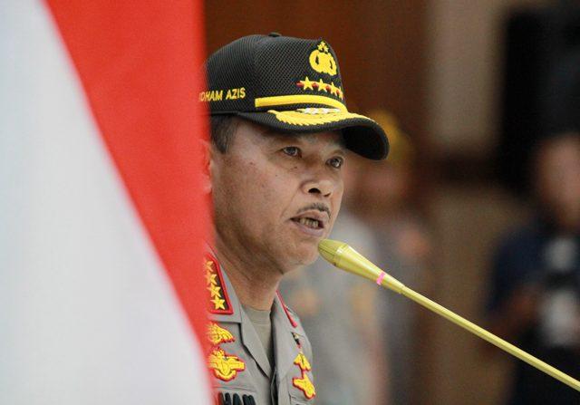 Kapolri Jenderal Pol Idham Aziz meresmikan program Safety Driving Center (Dery Ridwansah/ JawaPos.com)