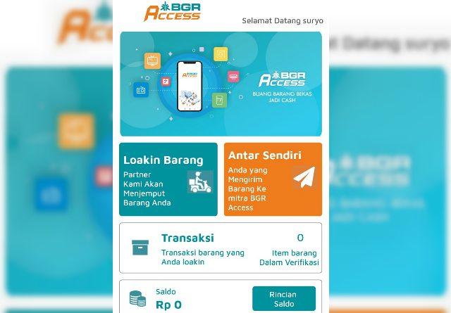 Tampilan muka aplikasi BGR Access besutan PT Bhanda Ghara Reksa (Persero) atau BGR Logistics. (Apps)