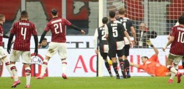Pertandingan AC Milan vs Juventus di leg pertama semifinal Coppa Italia, Jumat (14/2) berakhir imbang. (Football Italia)