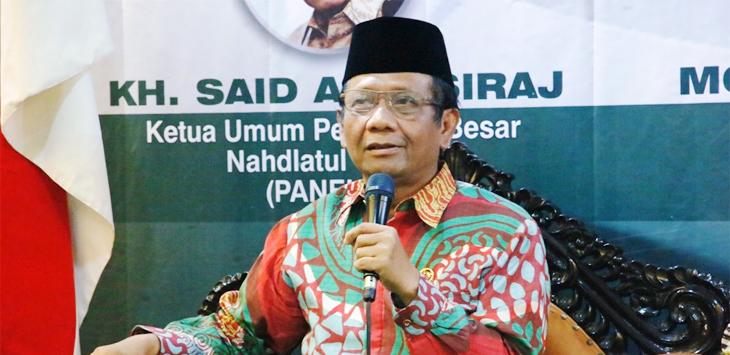 Menko Polhukam Mahfud MD. (Foto: Suwitno/NU Online)