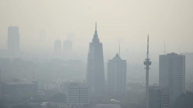 Ilustrasi polusi udara.