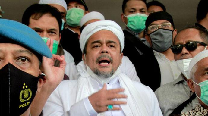 Habib Rizieq ditahan