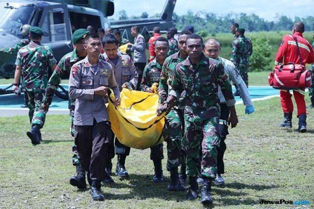 Ilustrasi prajurit TNI gugur