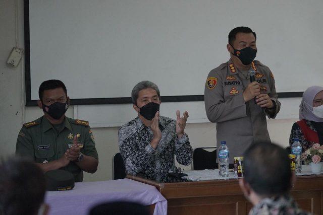 Wakil Wali Kota dan Kapolresta Bogor Kota di Kampung Tangguh Anti Narkoba Kota Bogor