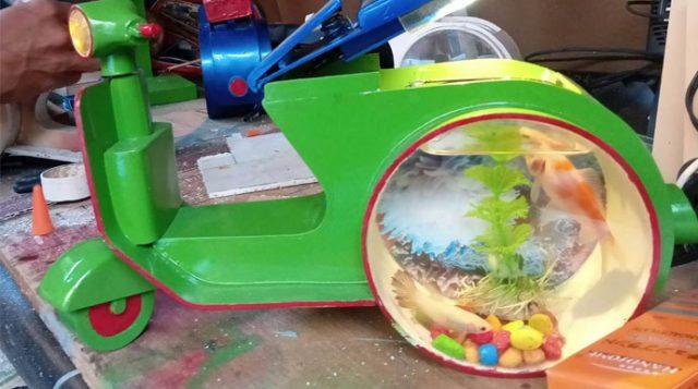 Aquarium miniatur vespa
