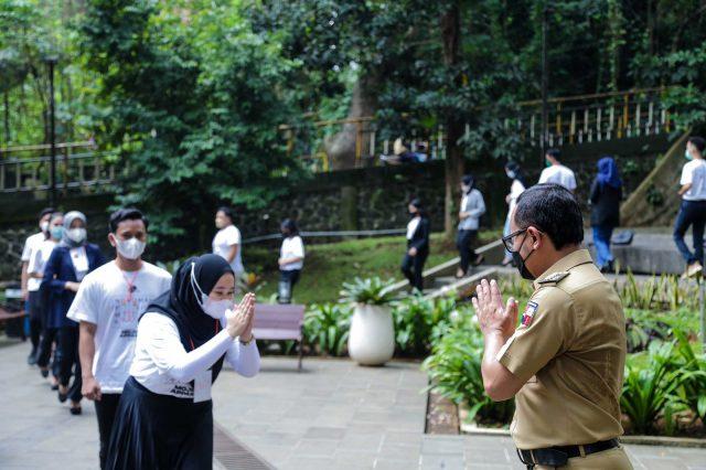 Bima Arya dengan para Mojang Jajaka Kota Bogor.
