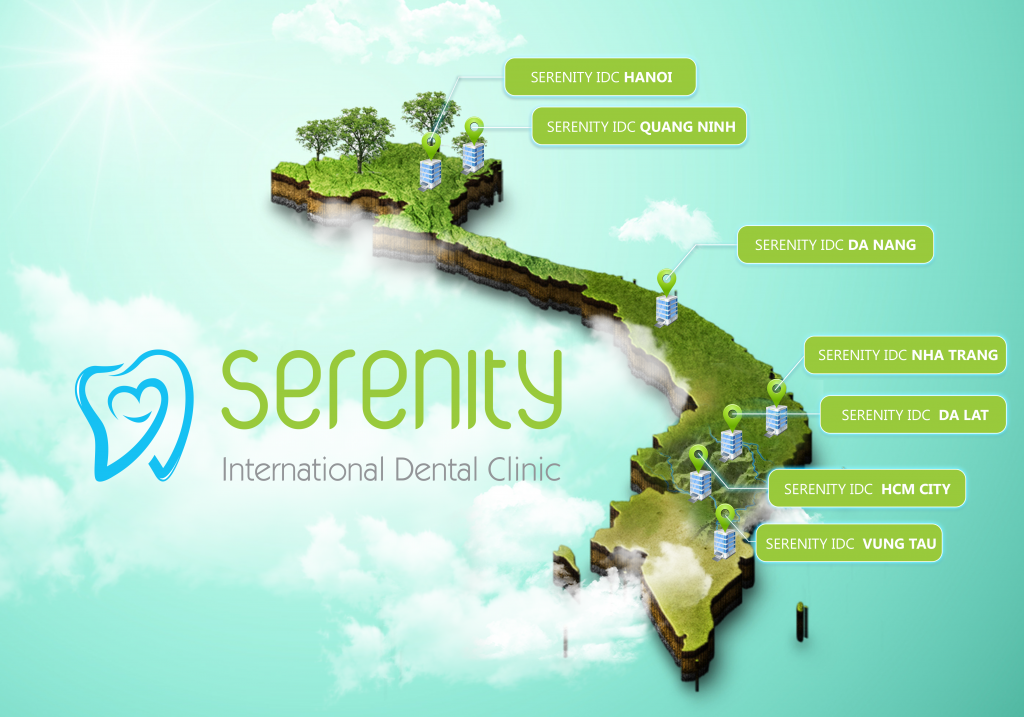 Serenity International Dental Clinic Vietnam map