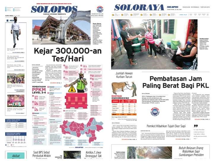 Solopos Hari Ini: Kejar 300.000-an Tes/Hari