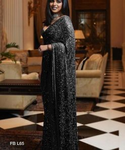 Georgette Saree with Full Sequence Work (11 Pcs Catalog)