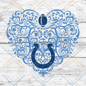 Indianapolis Colts, Heart SVG, NFL Svg, Football Svg, Cricut File, Svg