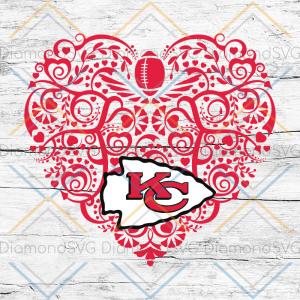 Kansas City Chiefs, Heart SVG, NFL Svg, Football Svg, Cricut File, Svg