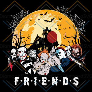 Halloween Friends Printable Download Print and Cut Sublimation PNG File Halloween svg