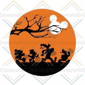 Mickey Halloween Svg, Cricut File, Halloween Svg, Silhouette Cameo, Mickey Svg, Disney Svg