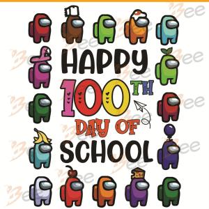 Happy 100th Day Of School Svg, Trending Svg, 100 Days Of School Svg,