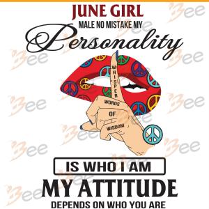 June Girl Svg, Birthday Svg, June Birthday Svg, Born In June, June