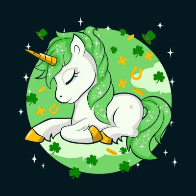 Cute Unicorn With Shamrock St Patrick s Day svg