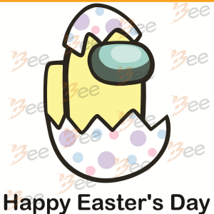 Cute Among Us Happy Easters Day Svg, Among Us Svg, Easter Svg, Easter