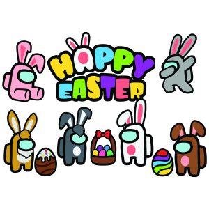 Among Us Happy Easter mockup 1