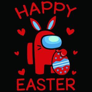 Among Us Happy Easter mockup