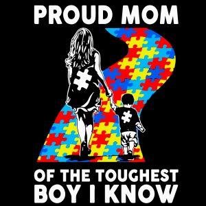 Autism Proud Mom mockup